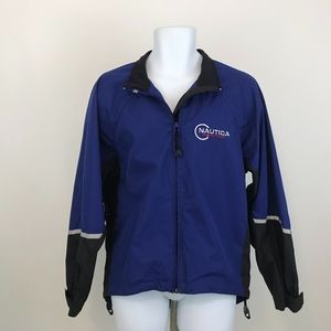 Nautica Competition Vented Windbreaker Blue Size M